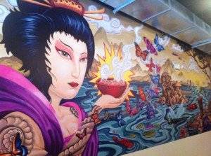 Pooch's mural at Kapow! (Photo from KapowNoodleBar.com)