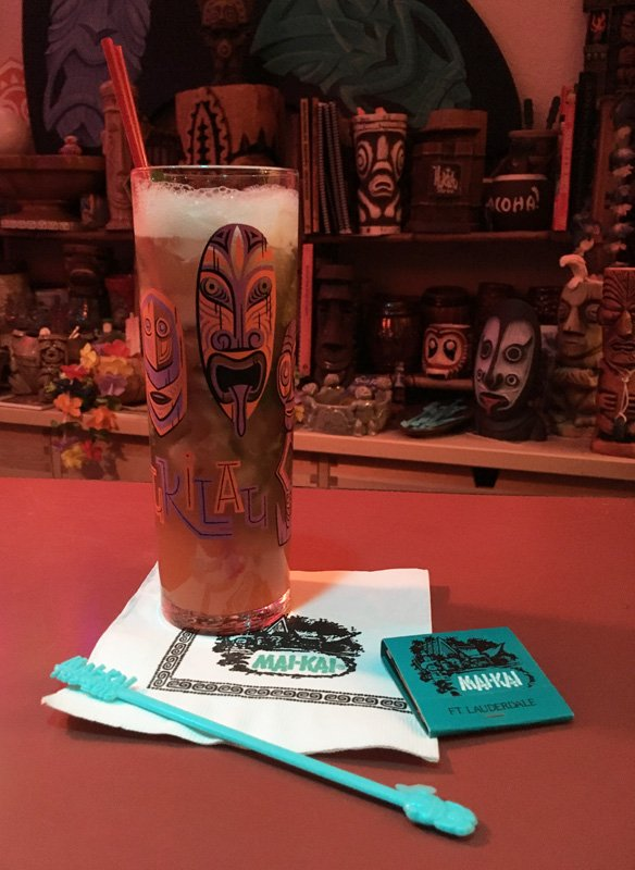 Tribute to The Mai-Kai Zombie by The Atomic Grog, December 2016. Served in The Hukilau 2016 Zombie Glass designed by Shag. (Photo by Hurricane Hayward)