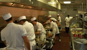 Stir fry is prepared at the Cantonese and Mandarin wok stations in The Mai-Kai kitchen. (Stop 1)