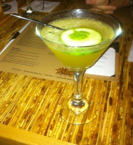 The Spicy Lover cucumber margarita.