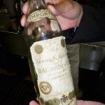 This rare bottle of Bacardi from pre-Castro Cuba has spent some 50 years in The Mai-Kai's kitchen service bar. (Stop 5)