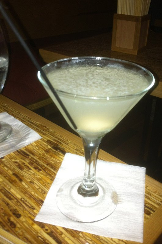 The Kapow Lychee Martini.
