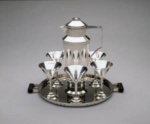 A sterling silver cocktail set from the 1920s.
