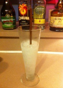 An ice cone is prepared by The Atomic Grog. (Photo by Hurricane Hayward, December 2011)