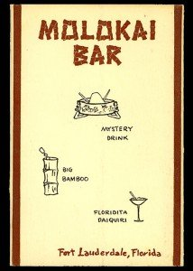 A 1958 Molokai bar menu.