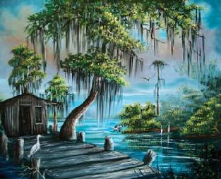 """Beautiful Florida"" by Florida Highwaymen artist R.L. Lewis."