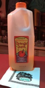 Fresh-squeezed, non-pasteurized orange juice from Kennesaw is a key ingredient in many Mai-Kai cocktails. (Photo by Hurricane Hayward, September 2016)