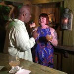 "Christie ""Tiki Kiliki"" White enjoys a Black Magic while being interviewed by Rod Hagwood for South Florida.com"