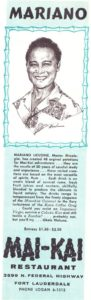 A 1958 newspaper ad