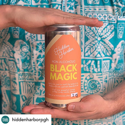 Hidden Harbor's Black Magic in a can, served to go
