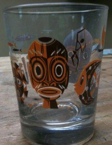 Official 2012 Hukilau glassware by Mookie Sato.