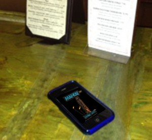 This mysterious phone was spotted at The Mai-Kai
