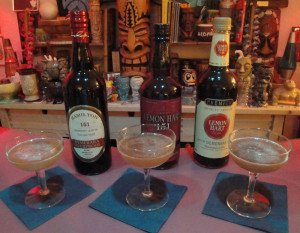 How does Hamilton 151 compare to both versions of Lemon Hart 151? They were put to the test in a classic Daiquiri. (Photo by Hurricane Hayward, October 2015)