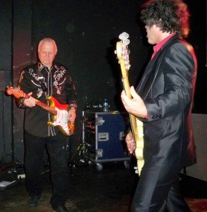 Dick Dale with bassist Sam Bolle at Respectable Street in West Palm Beach, April 21, 2012
