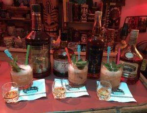 The latest taste test of Kohala Bay and some recommended substitutions in September 2016 using the Big Bamboo cocktail. (Photo by Hurricane Hayward)