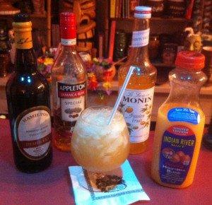The Mai-Kai's version of the Sidewinder's Fang features distinctive ingredients. (Photo by Hurricane Hayward, March 2015)