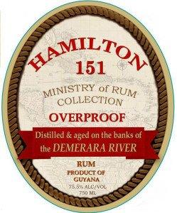 Hamilton 151 rum from Guyana