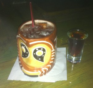 The Shrunken Skull now comes with a floater of Hamilton 151 Overproof rum