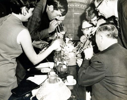 Patrons enjoy a Mystery Drink in the 1960s