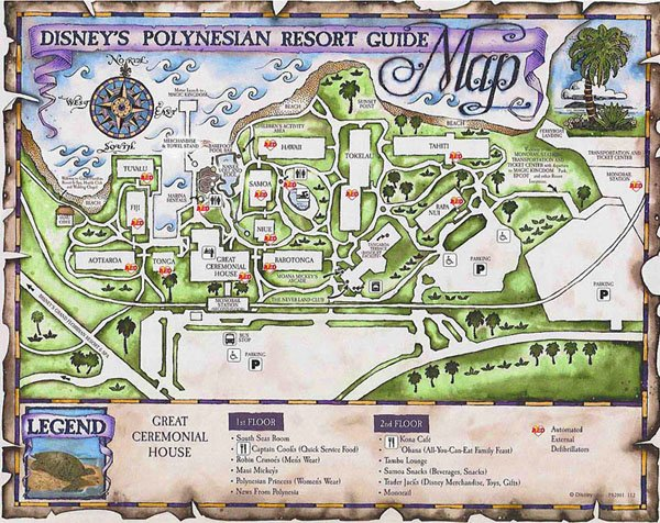 Disney's Polynesian Resort map