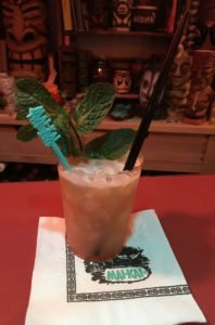 """A prototype of the Big Bamboo served by The Atomic Grog at a party marking the release of """"Mai-Kai: History and Mystery of the Iconic Tiki Restaurant"""" by Tim """"Swanky"""" Glazner in September 2016. (Photo by Hurricane Hayward)"""
