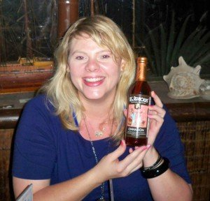 One of our lucky contest winners shows off her prize from B.G. Reynolds' Hand-Crafted Exotic Syrups