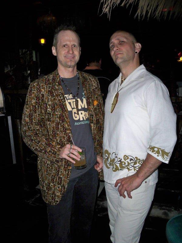 """Hurricane Hayward and Nik """"N!"""" Satterfield enjoy the festivities."""