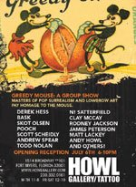 Greedy Mouse Group Show at Howl Art Gallery and Tattoo Studio in Fort Myers