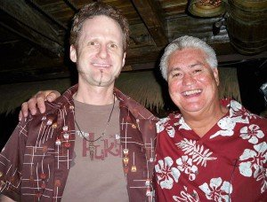 Hurricane Hayward (left) with Mai-Kai owner Dave Levy, April 2011.