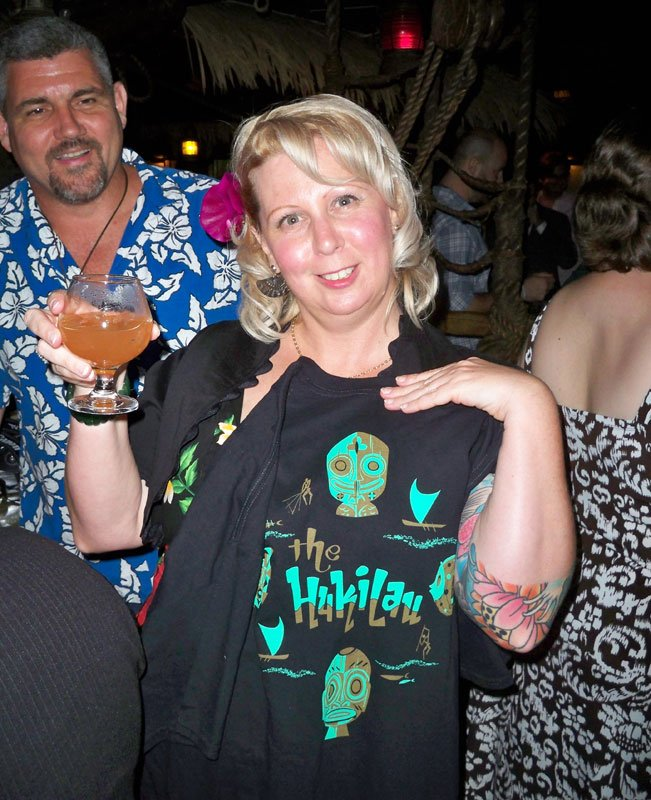 A Hukilau T-shirt is the prize for guessing the name of the drink in the cocktail flight.
