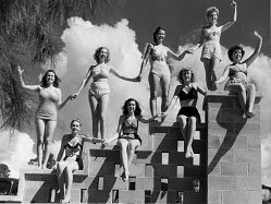 Weeki Wachee's first mermaids, circa 1947. (From WeekiWachee.com)