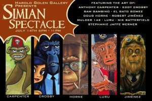 Simian Spectacle at Harold Golen Gallery
