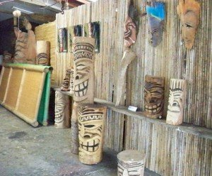 One of the work areas at Mai Tiki Studio and Gallery in Cocoa Beach in December 2009.