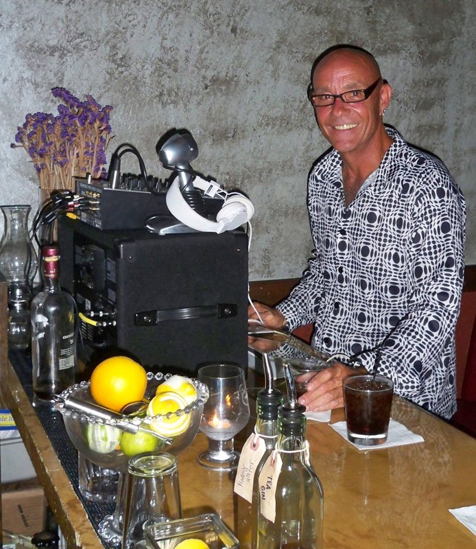 """On select nights, DJ Mike """"Jetsetter"""" Jones brings his """"retro-active"""" party tunes to Sweetwater."""