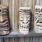 Tikis at Mai Tiki Studio await a home.