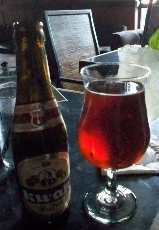 Kwak from Belgium is one of many craft beers on Sweetwater's menu.