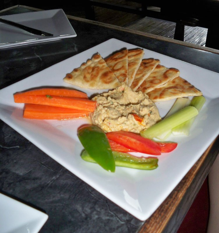 The Brick House Hummus was a healthy start to the decadence that was to follow.