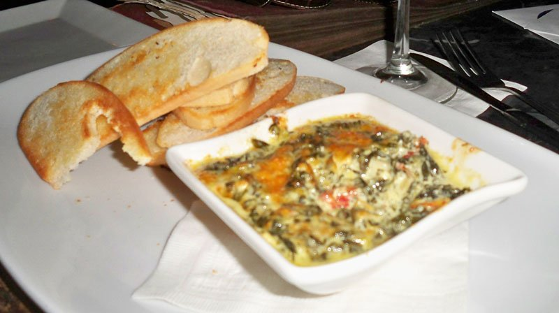 Sweetwater's Spinach Artichoke Dip was perfectly complimented by a crispy French baguette.