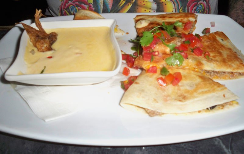 The SxSW Duck Quesadilla was a savory dish cooked to perfection.