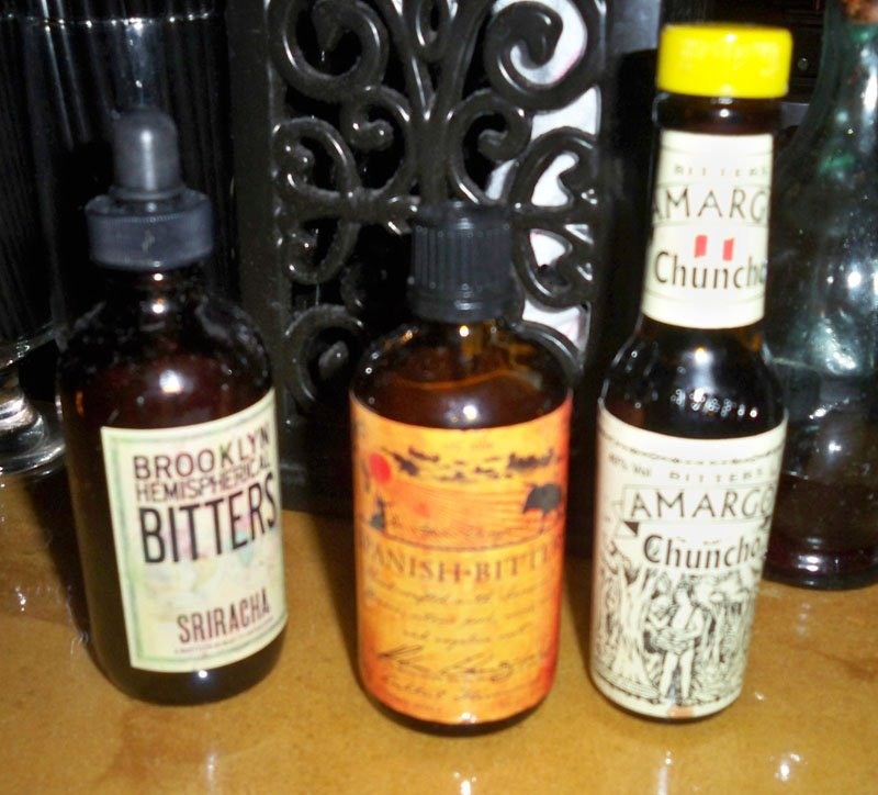 Some of the many bitters employed by Sweetwater mixologlists.