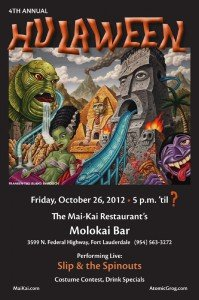 Hulaween 2012 in The Mai-Kai's Molokai bar
