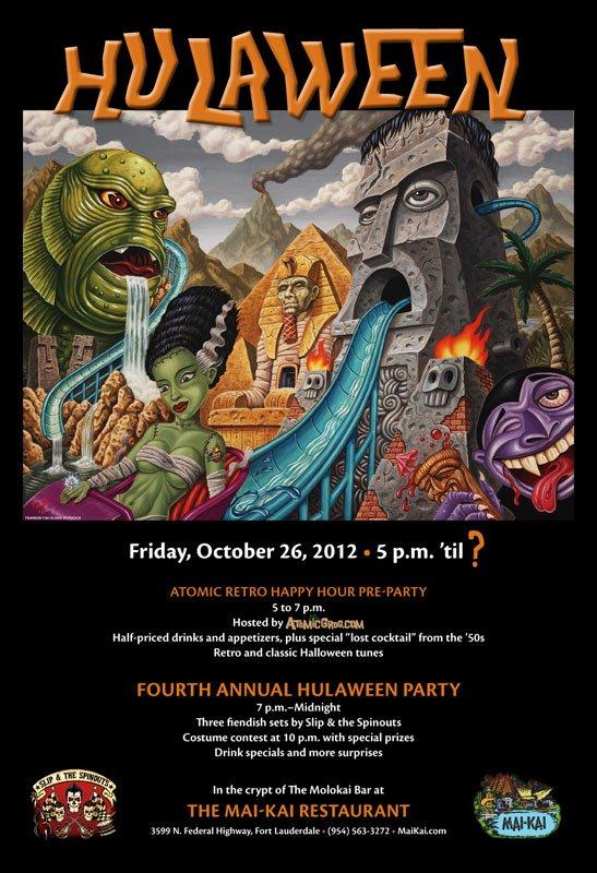 Hulaween 2012 poster