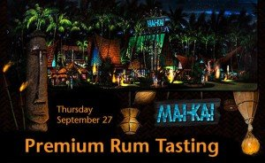 Premium rum tasting at The Mai-Kai