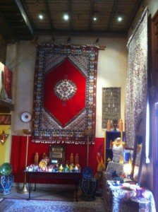 A rug shop in the Morocco Pavilion.