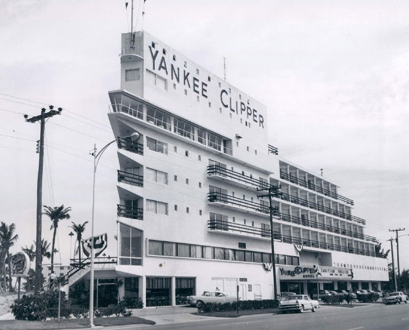 A vintage photo of the Yankee Clipper, now the Sheraton Beach Hotel in Fort Lauderdale.