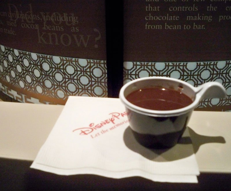 """""""Drinking Chocolate"""" from Ghirardelli's Chocolate Experience in Epcot's Festival Center."""