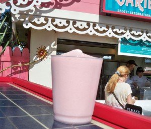 The Bacardi Frozen Dragon Berry Colada from the Caribbean booth.