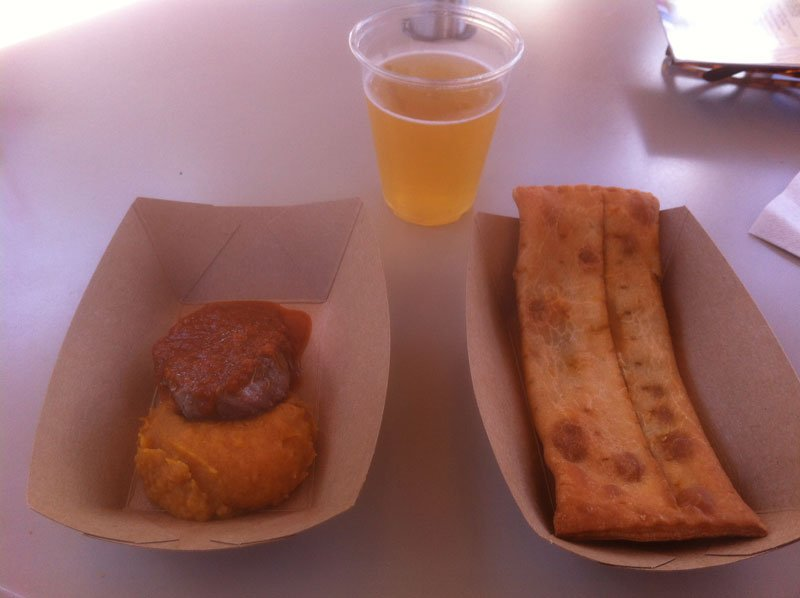 Dishes at the South Africa marketplace include the Seared Filet of Beef (left) and Spinach and Paneer Cheese Pocket.