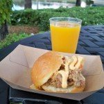 A perfect pairing from Hawaii: The Kalua Pork Slider and Seven Tiki Mai Tai.