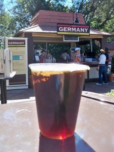 The Germany pavilion is one of the best places to grab a beer in World Showcase